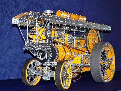 Meccano locomotive model by Dave Harvey