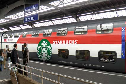 SBB Starbucks on Rails car
