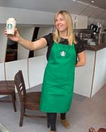 Starbucks barista in Switzerland