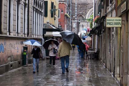 A rainy day in Venice, Italy