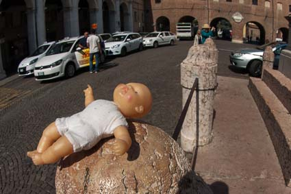 Lost doll in Ferrara, Italy