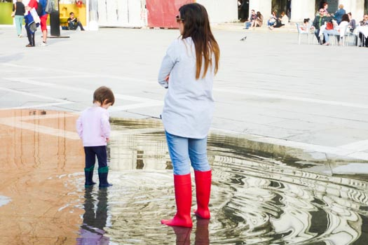 Wading in the Piazza San Marco
