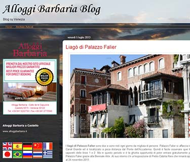 Alloggi Barbaria blog screen shot