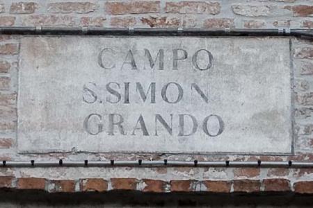 Campo S. Simon Grando sign, Venice