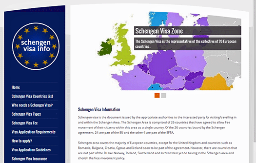 Schengen Visa Info screen shot