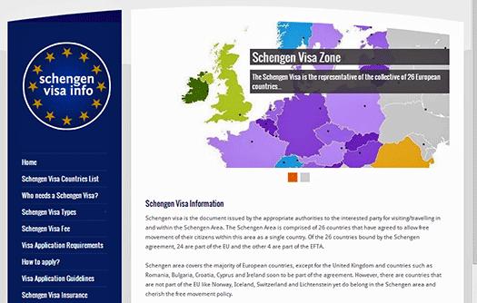 Schengen Visa Info screen shot