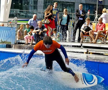 Surfing at Munich Airport