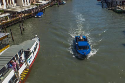 Hearse on Grand Canal, Venice