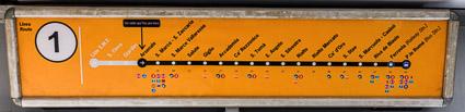 ACTV vaporetto line map