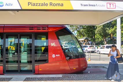 T1 tram in Piazzale Roma