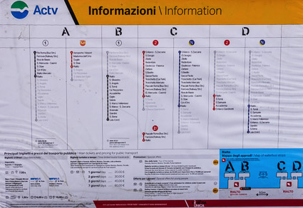 ACTV Rialto station map