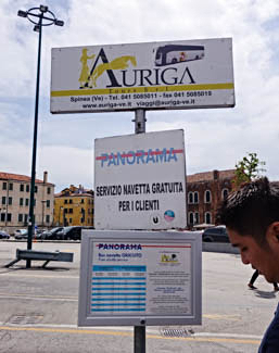 Auriga Tours and Panorama bus sign