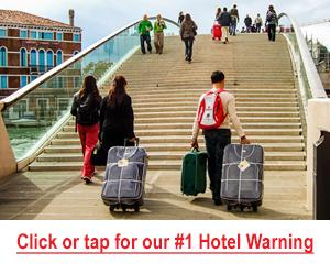 Venice hotel warning image